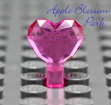 NEW Lego TRANS PINK HEART JEWEL - Princess Girl Friends Gem Crystal Treasure