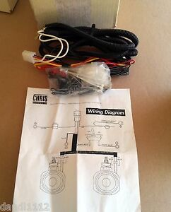 details about chris products 0735 halogen spotlight wiring harness for harley davidson m31  chris products wiring diagram #9