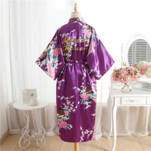 Personalised Wedding Robe Bride Dressing Gown Bridesmaid maid of honor Robe