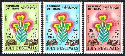 Postfrisch Juli Festivals Sinnvoll Irak 931-933 Blatt Und Blumen 1979