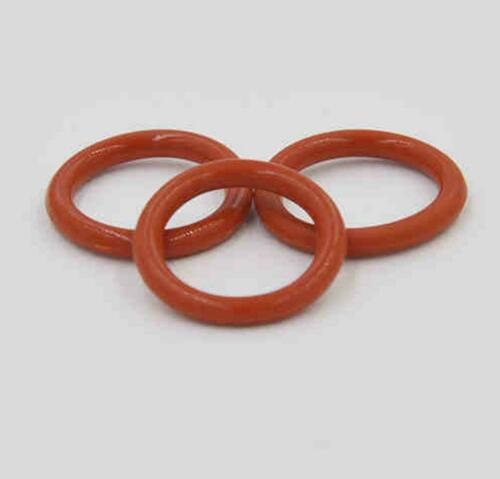 US Stock 100x 20mm OD 18mm ID 1mm Dia Food Grade Silicone Rubber Seal O-Ring Red