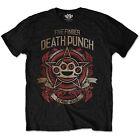 Official Unisex Men's FIVE FINGER DEATH PUNCH BADGE OF HONOUR Band LOGO T Shirt