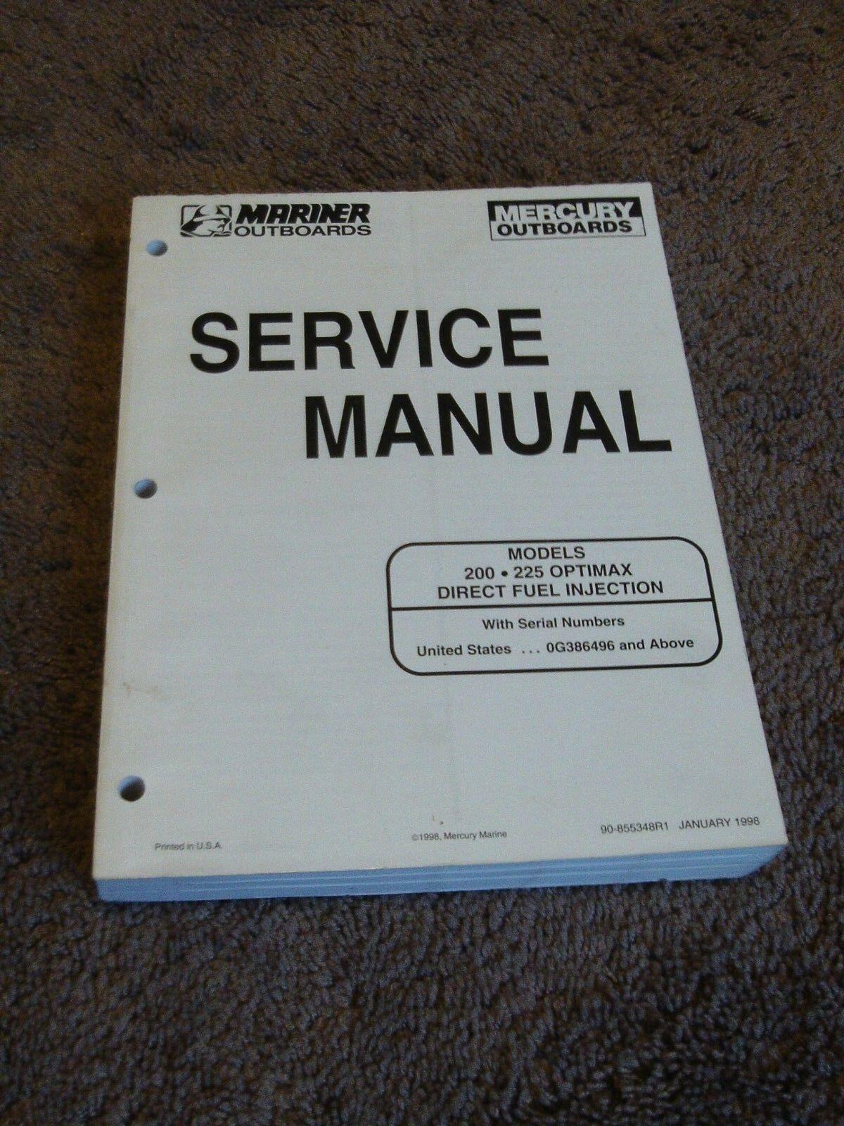 90-855348r1 Mercury Mariner OUTBOARD Service Manual 200-225 DFI Optimax |  eBay