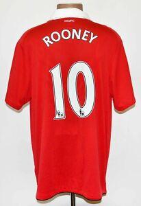 Manchester United 2010/2011 #10 ROONEY CALCIO CASA maglietta jersey Nike taglia L