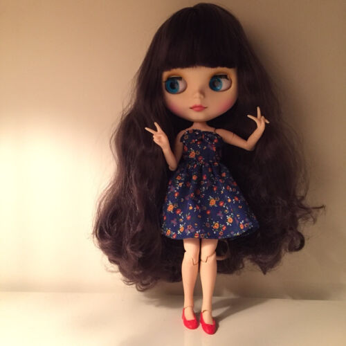 """hands 12/""""Neo Nude  Purple hair Joint Body Blythe doll From Factory CA6001+Gift"""