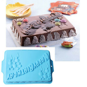 Image Is Loading Large Square Happy Birthday Cake Baking Pan Muffin