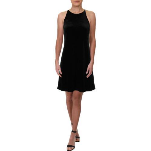 Aqua Womens Velvet Halter Party Shift Dress BHFO 4499