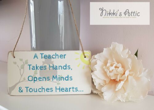 Personalised Thank You Teacher Nursery,Gift,Wooden Double Sided Plaque,School