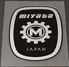 sku Miya716 Orange Miyata Head Badge Decal