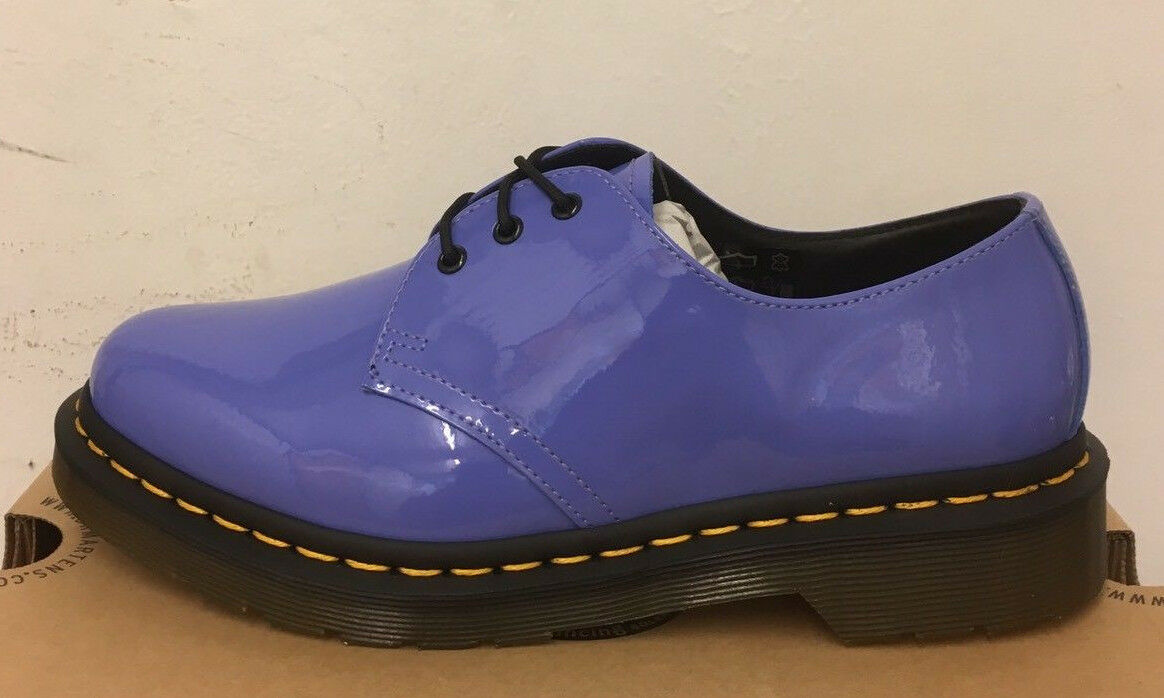 DR. MARTENS 1461 DUSTY LEATHER Blau PATENT LAMPER  LEATHER DUSTY  Schuhe SIZE UK 3 798bfe