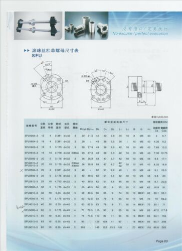 Free Shipping for New Ball screw 1605 1ps SFU1605 ballnut for CNC QC L650mm-C7