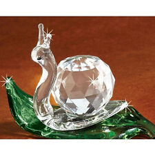 FACETED CRYSTAL Green /& Pink Songbird Bird FIGURINE NEW In Box SALE