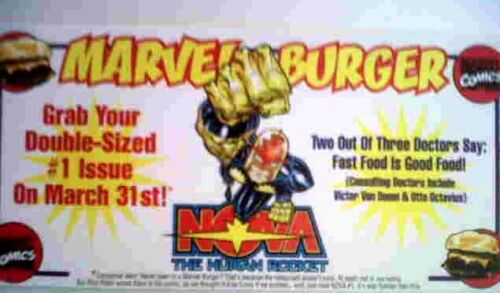 NOVA Marvel Burger Coupon  1999