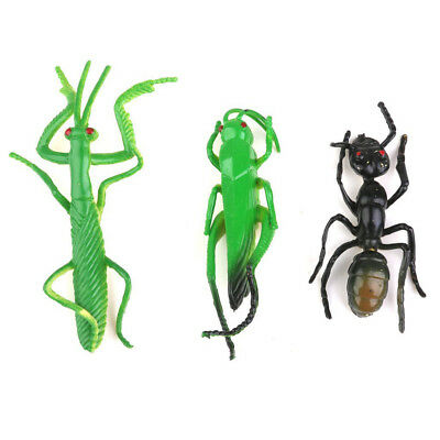 Lot 12pcs Plastic Vivid Insect Model Figure Toys Bug Mantis Scorpion Ant Bee