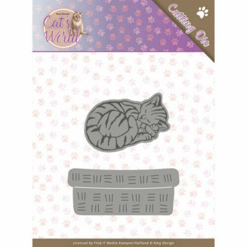 Stanzschablonen Cats World Collection von Amy Design  ADD10188 Sleeping Cats