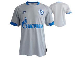 Umbro-FC-Schalke-04-Away-Jersey-grau-S04-Trikot-Fanartikel-Bundesliga-Gr-S-XXL