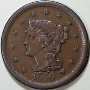 1856  Braided Hair Large Cent - ** VF++ ** Italic 5, N-18, R1 Die State B-C