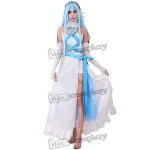 Image is loading Fire-Emblem-Fates-Birthright-Singer-White-Azura-Cosplay-  sc 1 st  eBay & Fire Emblem Fates Birthright Singer White Azura Cosplay Costume ...