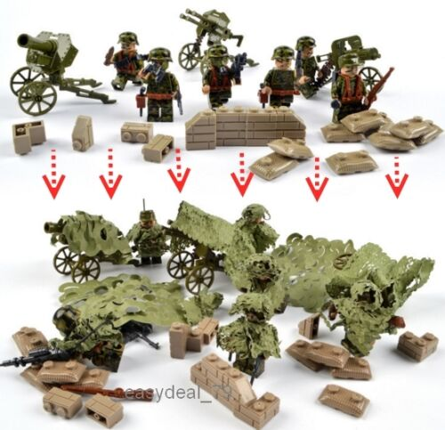 Compatible with Lego AMAZING 6pcs SOLDIERs with many weapons building blocks