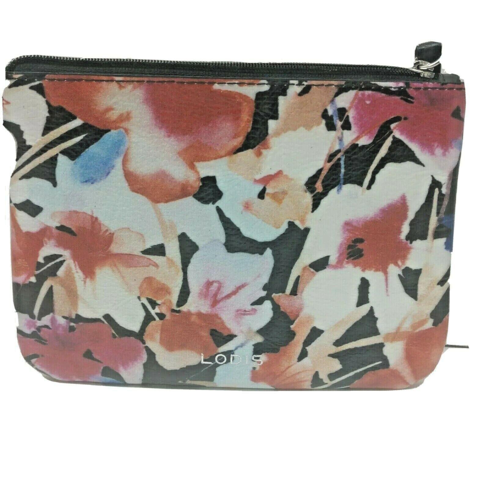 LODIS Floral Leather Wristlet Wallet Pouch