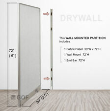 Gof Wall Mounted Office Partition Divider 30w X 48h 30w X 60h 30w X 72h