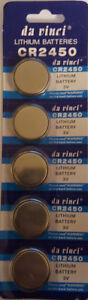 5x Batterie CR2450 Lithium 3V   CR 2450