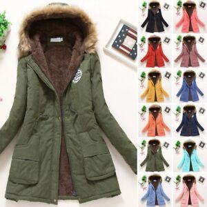 Women-Winter-Warm-Hooded-Coat-Windproof-Faux-Fur-Parka-Jacket-Trench-Outwear