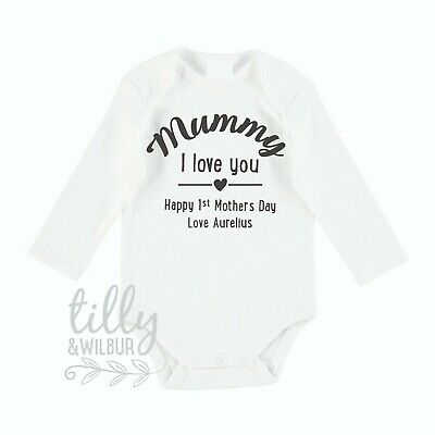 1st Mother/'s Day Gift, Mummy I Love You Happy First Mother/'s Day 2018