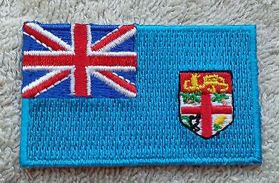 FIJI FLAG PATCH Embroidered Badge Iron Sew 3.8cm x 6cm Matanitu Tugalala o Viti