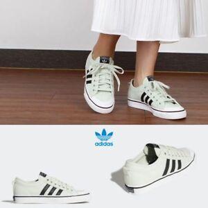 18e98b53bb032d Image is loading Adidas-Originals-Nizza-Shoes-BZ0490-Athletic-GREEN-BLACK-