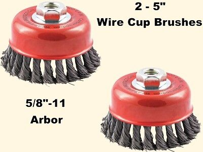 5-pack 3 inch Cup Knotted wire wheel angle gringer brushes