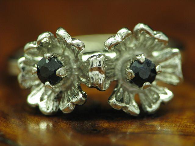 835 silver RING MIT SPINELL BESATZ   ECHTsilver   2,2g   RG 51