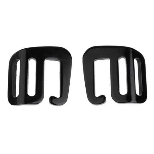 10pcs Sturdy Metal G Hook Webbing Quick Release Buckle Backpack Bag Black
