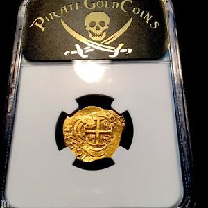 COLOMBIA-1699-034-DATED-034-2-ESCUDOS-034-1715-FLEET-034-NGC-63-GOLD-COB-DOUBLOON-TREASURE