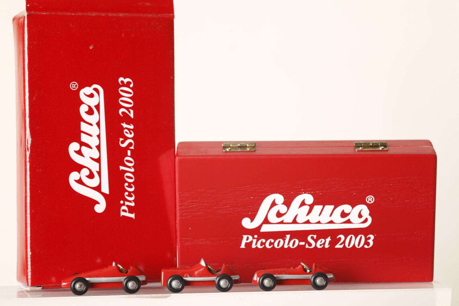 Schuco Piccolo 3er-set 2003 Gr Prix Racer Midget Maserati All Red (65064)