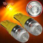 2 Led T10 Lampade 2 SMD 5630 Luci GIALLO Lente Posizione Targa Xenon Lampada 5W