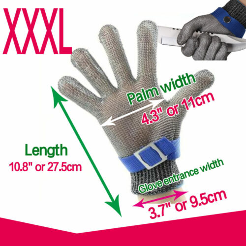 Wire Mesh Cut Proof Resistant Chain Mail Protective Glove Stainless Steel New
