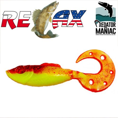 "3pcs soft plastic lures,grub,jigging,vertical 10cm relax kopyto super fish 4/"""