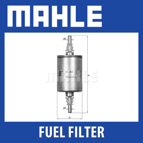 MAHLE Filtro Carburante kl83-si adatta a Fiat Vauxhall-Genuine PART