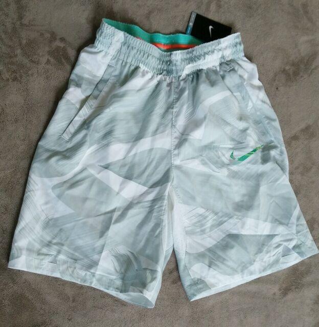 576cd85302ba Nike Mens HYPER ELITE Easter Basketball Shorts NEW white gray 777188 100 sz  S