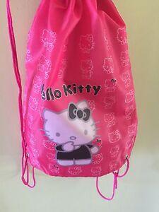 542259617eeb Girls Hello Kitty Dance Gym Sport ballet School Draw String Shoes ...