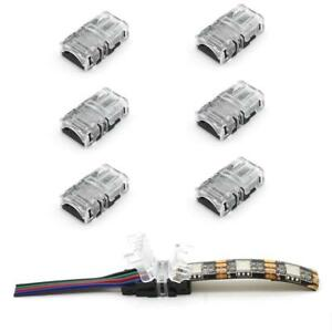 WIRE-TO-STRIP-CONNECTOR-CLIP-LED-8mm-10mm-RGB-W-2Pin-3Pin-4Pin-5Pin-PCB-ADAPTER