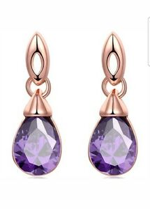 goldtone hoop earrings and stone gratitude earring products worn graces with amethyst