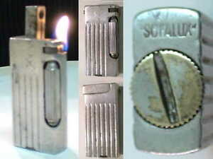 BRIQUET-Ancien-SOFALUX-Alu-Massif-Vintage-Fuel-Lighter-Feuerzeug-Accendino