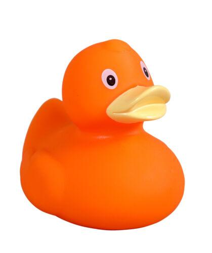 Badeente orange Ente * Gummiente Quietscheente