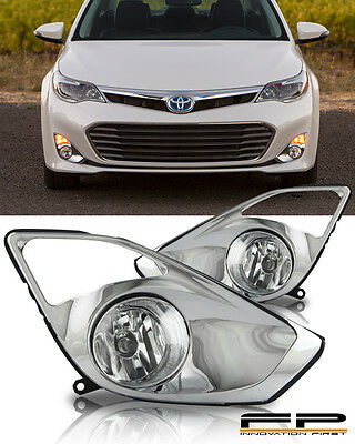 For Toyota 2013 2014 2015 AVALON Front Fog Light Set H11 12V 55W Daytime Running Lights Bumper Lights Chrome Plated Wire Harness Switch Assembly