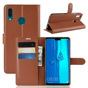 Etui-pour-Huawei-Y9-2019-Y9-2018-Telephone-Pied-Clapet-Cuir-PU-Protection-Housse