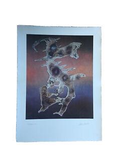 Christian Schweinfurter etching mid century modern Austrian A P Dancing Dog