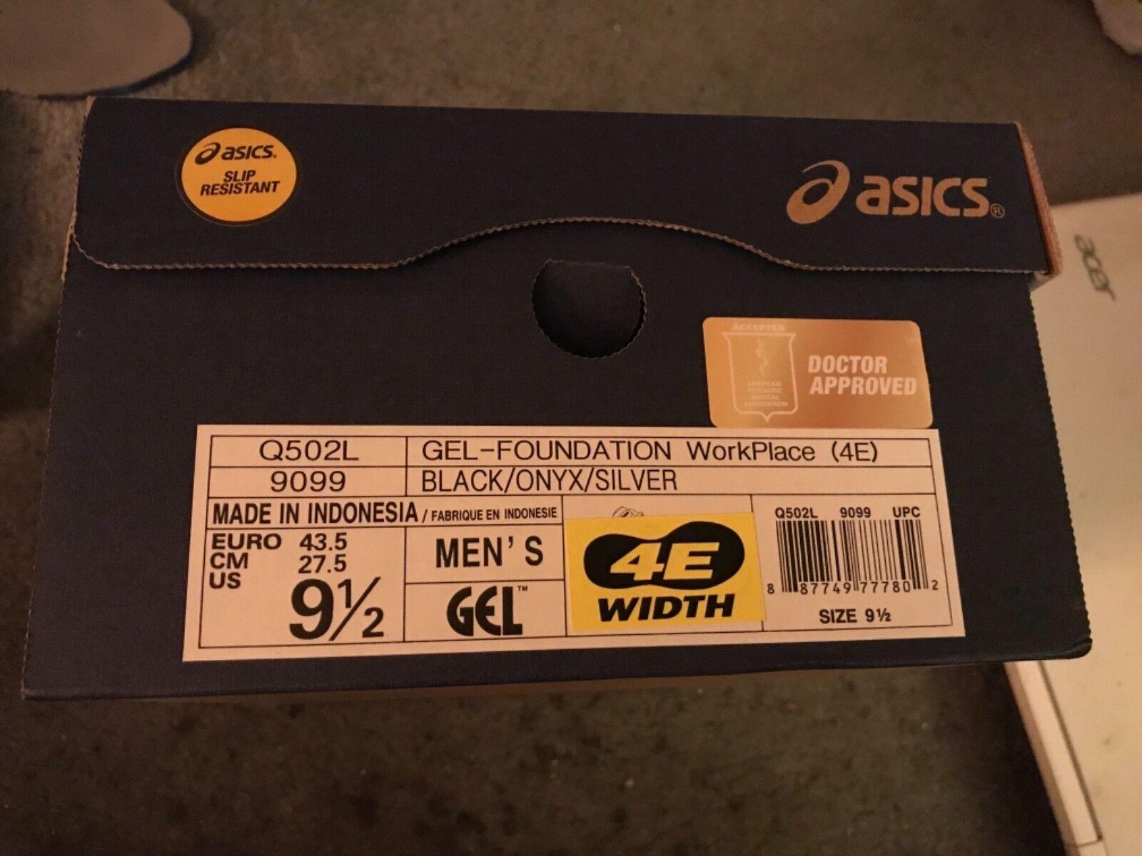ASICS Mens Gel-Foundation Workplace (4E) (4E) (4E) Walking shoes, Black Onyx Silver, 9.5 4E 5e1e98