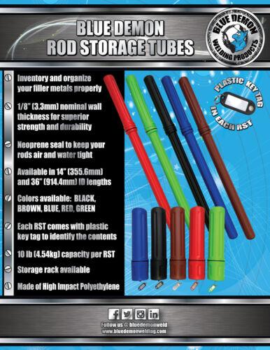 Rod Storage Tubes 14 Blue Demon 4 Packs green